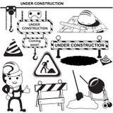 Signes noirs en construction Image stock