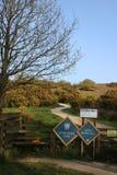 Signes pour le parc et le Nicky Nook Fell de Wyresdale photo libre de droits