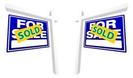 signes réels de vente de paires bleues de patrimoine illustration libre de droits