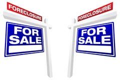 signes réels de vente de paires de forclusion de patrimoine illustration libre de droits