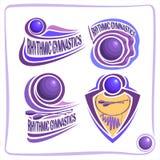 Signes réglés de vecteur pour la gymnastique rythmique Image libre de droits