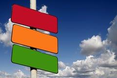 Signes rouges, ambres et verts blanc Photos libres de droits