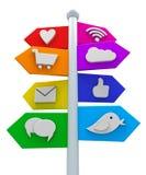 Signes sociaux de media illustration de vecteur