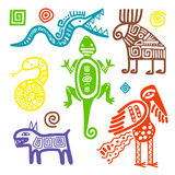 Signes tribals primitifs de culture mexicaine illustration libre de droits