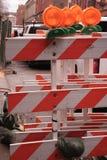 Signes urbains de construction Photos stock