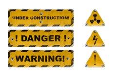 Signes utilisés de danger Photographie stock libre de droits