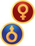 Signes Venus et Mars Images libres de droits