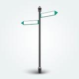 Signes vides de flèches de direction pour l'espace de copie Image libre de droits