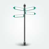 Signes vides de flèches de direction pour l'espace de copie Image stock