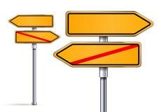 Signes vides se dirigeant dans des directions opposées Images libres de droits