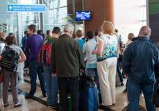Signez à l'aéroport Domodedovo de Moscou Photos libres de droits