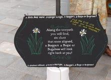 Signez à la célébration de 200 ans du canal de Leeds Liverpool chez Burnley Lancashire Image stock