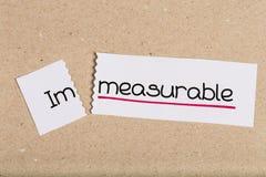 Signez avec incalculable de mot transformé en mesurable images stock