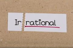 Signez avec irrationnel de mot transformé en rationnel image libre de droits