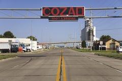 Signez ce les noms Cozad image stock