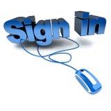Signez dedans le cliquetis Image stock