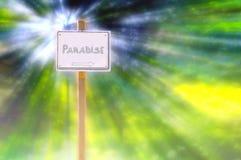 Signez dedans le paradis Photos libres de droits
