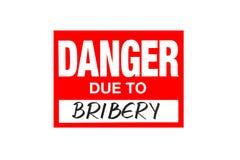 Signez le danger dû au corruption d'isolement sur le blanc illustration libre de droits