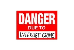 Signez le danger dû au crime d'Internet d'isolement sur le blanc illustration libre de droits