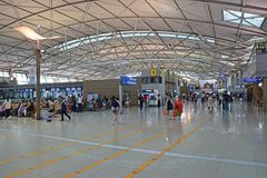 Signez le hall de secteur ou de départ de l'aéroport international d'Incheon à Séoul, Corée du Sud Photo stock