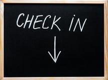 Signez le message et la flèche se dirigeant vers le bas Photographie stock libre de droits