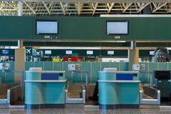 Signez le secteur dans l'aéroport Photos stock