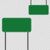 Signez le vert de route, panneau de signe sur le fond transparent Illustration de vecteur illustration stock
