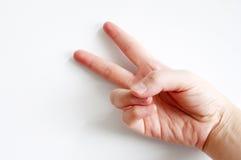 Significado dos gestos de mão calmo Foto de Stock Royalty Free