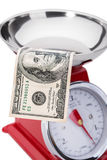 The significance of the dollar in the economy. Royalty Free Stock Image
