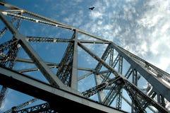 Significant bridge of India,. A low angel view of Howrah Bridge of Kolkata Royalty Free Stock Photo