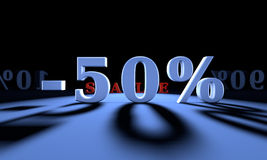 -50% Significant discounts for the goods and services. Big dumpi Stock Images