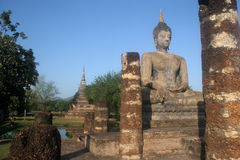 Significant historical complex, Sukhothai Royalty Free Stock Image