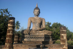 Significant historical complex, Sukhothai Royalty Free Stock Images