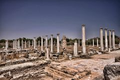 Significant historical ruins of Salamis, northern Cyprus. The Significant historical ruins of Salamis, northern Cyprus Stock Photo