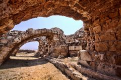 Significant historical ruins of Salamis, northern Cyprus. The Significant historical ruins of Salamis, northern Cyprus Royalty Free Stock Photography