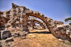 Significant historical ruins of Salamis, northern Cyprus. The Significant historical ruins of Salamis, northern Cyprus Stock Photography