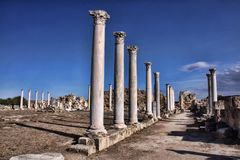 Significant historical ruins of Salamis, northern Cyprus. The Significant historical ruins of Salamis, northern Cyprus Royalty Free Stock Photo