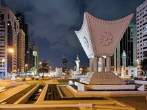 Significant icons and monuments in Abu Dhabi, located in the center of the city, UAE.  stock photos