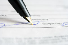 Signing. Royalty Free Stock Images