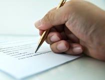 Signing Stock Photos