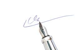 Signing Stock Image