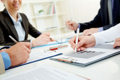 Signing agreement Royalty Free Stock Photography