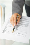 Signing the agreement Royalty Free Stock Photography