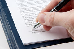 Signing an agreement (contract) Royalty Free Stock Photos
