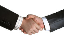 Signing of the agreement and a handshake Stock Photos