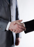 Signing of the agreement and a handshake Stock Image