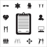 signing of an agreement icon. Conversation and Friendship icons universal set for web and mobile stock illustration