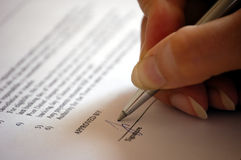 Signing a business contract Stock Photography
