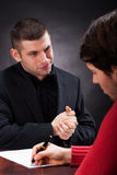 Signing a business deal Royalty Free Stock Image