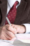Signing business papers Royalty Free Stock Image